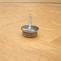 PBH Viltglijder 20 mm met 16 mm schroef per  stuk